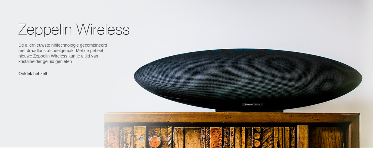 Bowers & Wilkins Zeppelin Wireless: in demo en op stock! Nu ook in het wit!